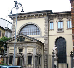 The Ambrosian library in Milan