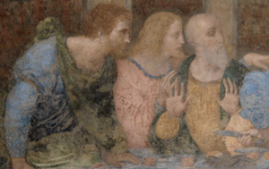 Apostles, detail of Leonardos' Last Supper