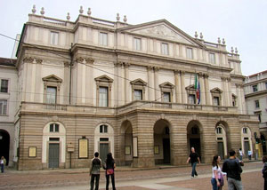 La Scala theatre the most famous and important theatre of Milan