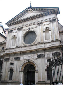 The church of Santa Maria at San Satiro in Milan