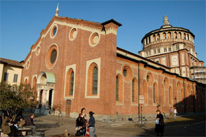 Santa Maria delle Grazie in Milan, the church where you can admire  The Last Supper by Leonardo da Vinci