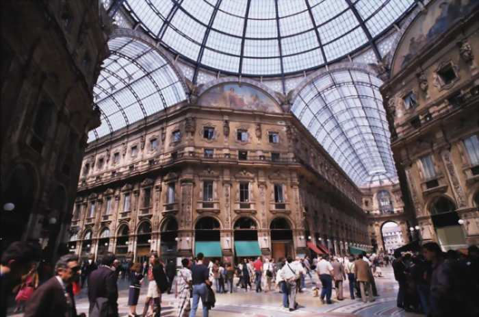 The Vittorio Emanuele Gallery in Milan