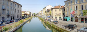 The Navigli area in Milan